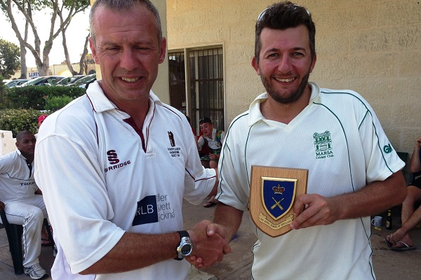 Malta Cricket Touring Teams - 14th Regiment Presentation (Ian Forrester - Andrew Naudi)