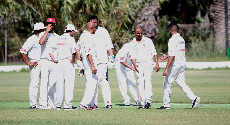 Leo CC celebrating a Marsa wicket